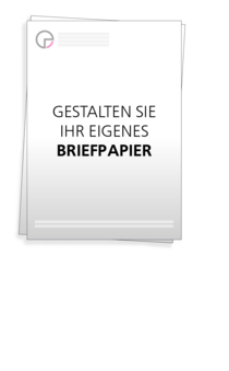 Briefpapier: Leeres Briefpapier