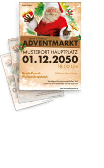 Flyer A4: Adventmarkt Santa Claus