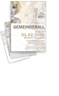 Flyer A4: Ball - Eiskoenigin