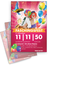 Flyer A4: Fasching - Clowns
