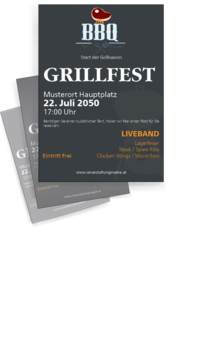 Flyer A4: Grillfest - Steak