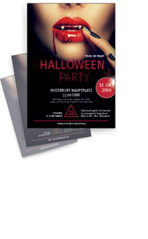 Flyer A4: Halloween - Lips