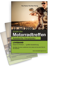 Flyer A4: Motorradsport Cool Guy