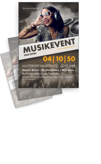 Flyer A4: Musik - People
