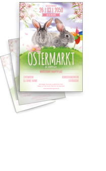 Flyer A4: Ostern - Easter Rabbits