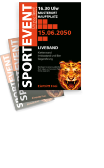 Flyer A4: Sportevent - Tiger Eye