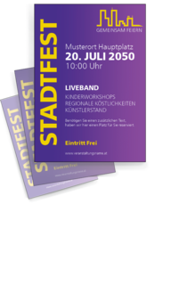 Flyer A4: Stadtfest - Skyline