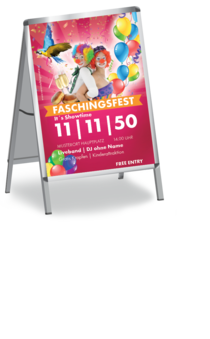 Plakat A1: Fasching - Clowns
