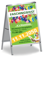 Plakat A1: Fasching - Flying Balloons