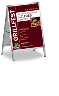 Plakat A1: Grillfest Grilling