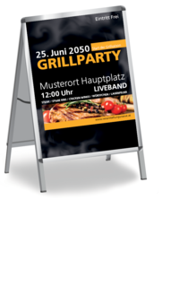 Plakat A1: Grillparty - Rauch