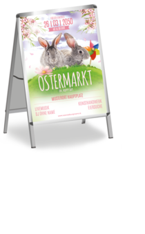 Plakat A1: Ostern - Easter Rabbits
