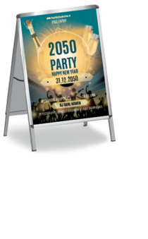 Plakat A1: Silvester Party