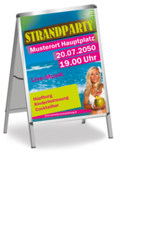 Plakat A1: Strandparty - Beachgirl