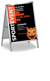 Plakat A1: Sportevent - Tiger Eye