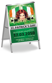 Plakat A1: St. Patricks Day Wiese