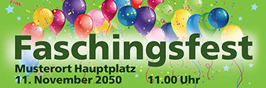 Werbebanner: Fasching - Flying Balloons