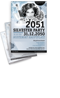 Flyer A4: Silvester Pinup