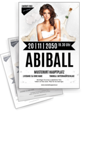 Flyer A4: Abiball Outfit