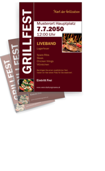 Flyer A4: Grillfest Grilling
