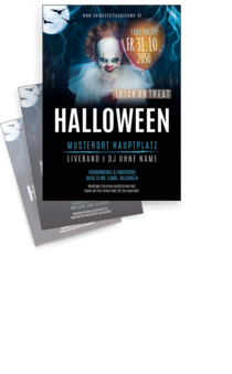 Flyer A4: Halloween - Horrorclown