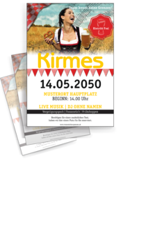 Flyer A4: Kirmes - Noten