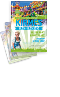 Flyer A4: Kirmes Messe