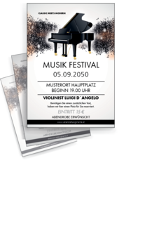 Flyer A4: Musik - Melody