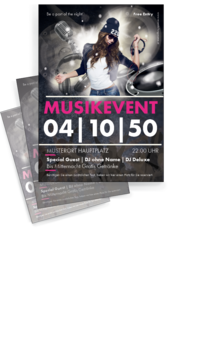 Flyer A4: Musik - Party
