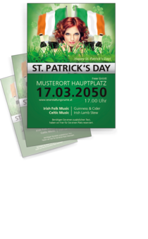 Flyer A4: St. Patricks Day Wiese