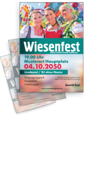 Flyer A4: Wiesenfest - Maedels