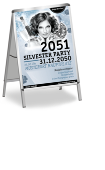 Plakat A1: Silvester Pinup