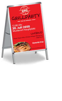 Plakat A1: Grillparty - Standard