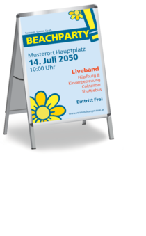 Plakat A1: Beachparty - Blume