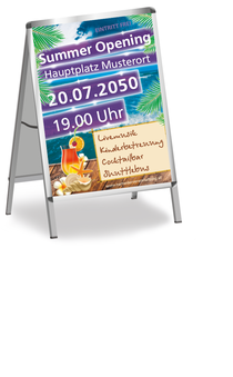 Plakat A1: Summer Opening Paradies