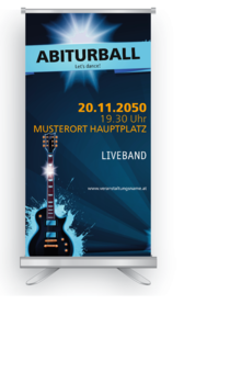 Roll-Up: Abiball Musik guitarre