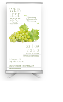 Roll-Up: Wein Weinlesefest